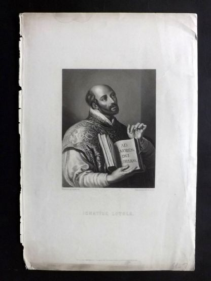 Waller C1860 Antique Print. Ignatius Loyola